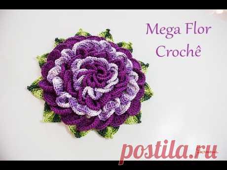 Mega Flor de Crochê - passo a passo - SImone Eleotério