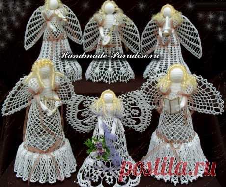 Красивые и нежные ангелочки к Новому году. Схемы
