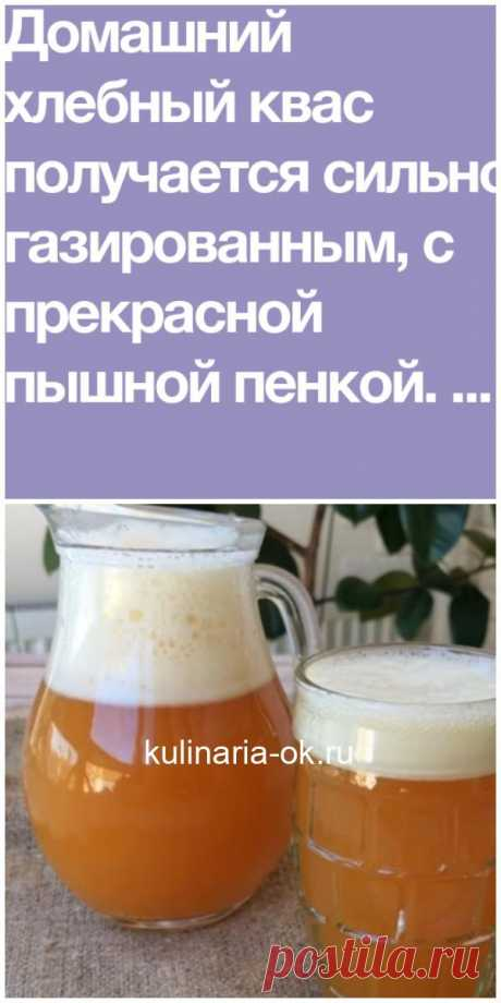 House grain kvass: aerated and with a magnificent skin