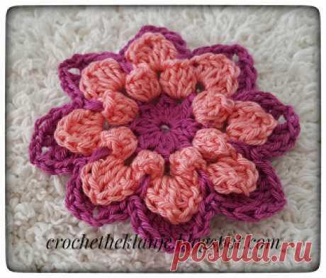 Crochet Heklanje: Moj rad 49 - Cvijet 12
