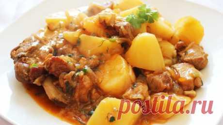 Рагу из свинины с картошкой в мультиварке / Простые рецепты
