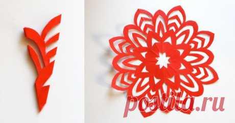 Красивые снежинки из бумаги: 30 схем для вырезания — I Love Hobby — Лучшие мастер-классы со всего мира!