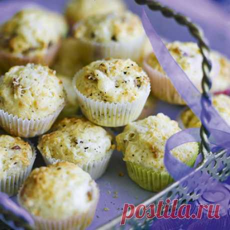 Мини-маффины с сыром и беконом | Goodhouse.ru