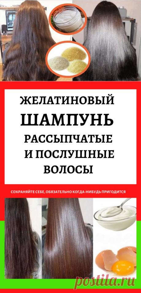 Желатиновый шампунь — рассыпчатые и послушные волосы...