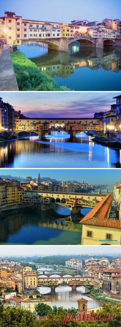 You saw the bridge on which there are houses? Florence, Italy