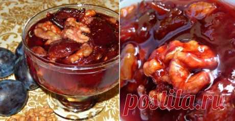 Вкусное варенье из слив с орехами | Вкусные рецепты