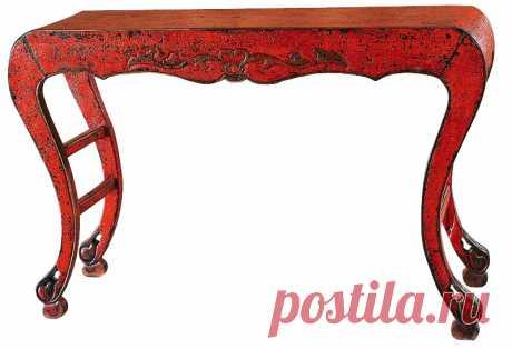 BF-20087B Сян-Ань традиционная консоль для воскуривания благовоний красного цвета покрытая кракелюрным лаком Династии Цинь | Уголок Прованса +7 (499) 390-04-39