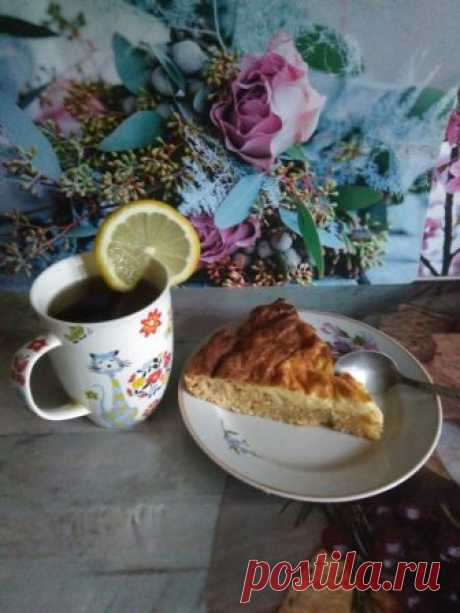 Лимонно-творожный пирог — Кулинарная книга - рецепты с фото