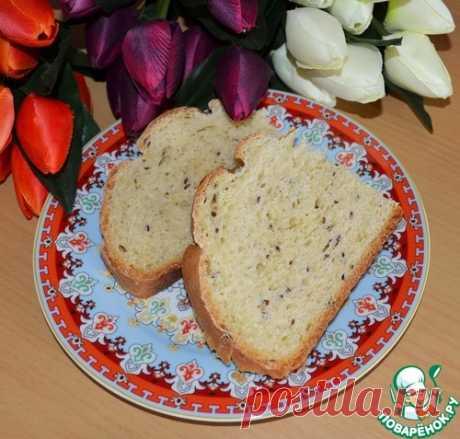 """El pan """"Кукурузный con de lino семечками"""" - la receta de cocina"""