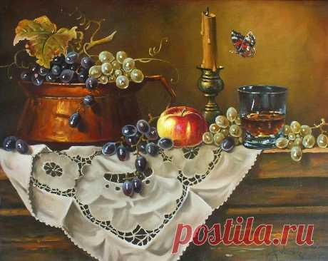 Small candlestick Oil on canvas 40×50cm Buy the original painting… price 490$