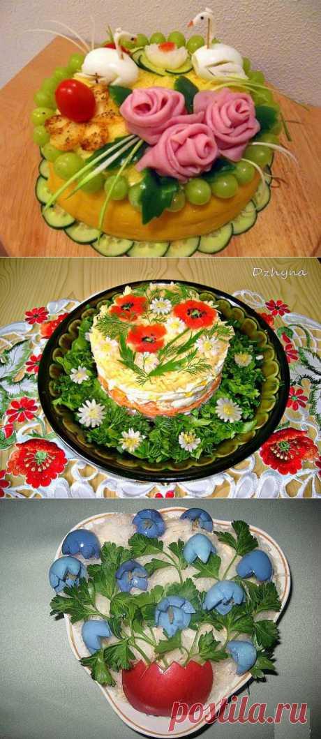 La ensalada como el arte.