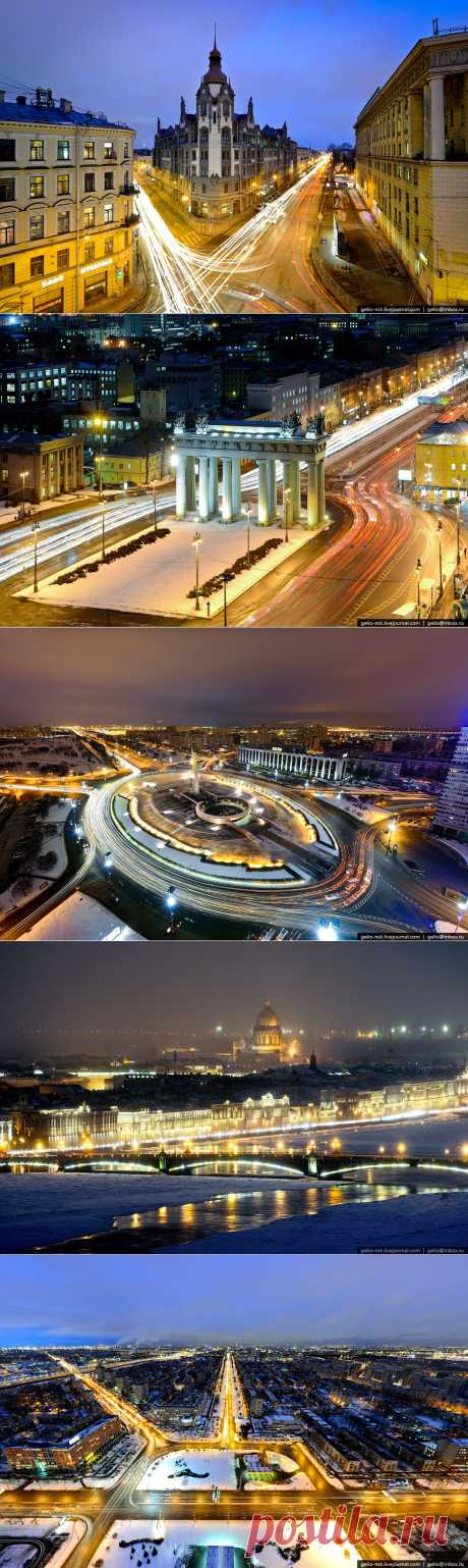 night_in_city: Санкт-Петербург зимой