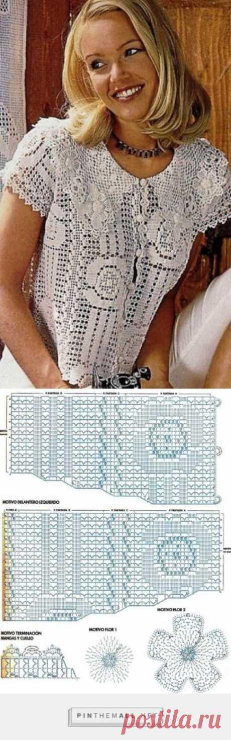 Ажурный жакетик крючком... - a grouped images picture Ажурный жакетик крючком - created on 2017-09-15 13:11:17