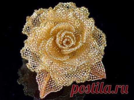 Бисерная роза — Сделай сам, идеи для творчества - DIY Ideas
