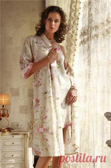 Уютные халатики-кимоно и халатики с цельнокроеными рукавами, с выкройками   Рукоделие