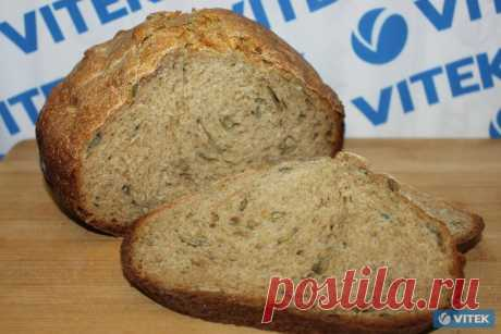 Rye bread with pumpkin sunflower seeds - photos and the description of process of preparation on the official site of Vitek.ru