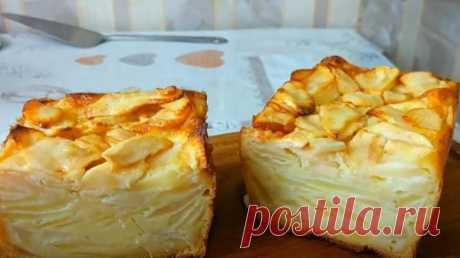 """""""Волшебный"""" яблочный пирог: во время выпечки тесто превращается в крем. Этот десерт намного вкуснее шарлотки"""