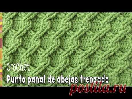 Punto panal de abejas 3D  trenzado tejido a crochet - Tejiendo Perú
