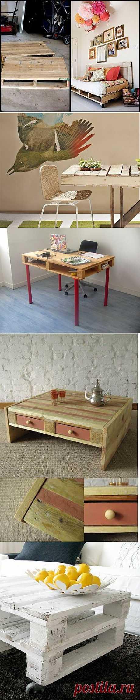 Salvaged wood : мебель из поддонов / Мебель / Модный сайт о стильной переделке одежды и интерьера