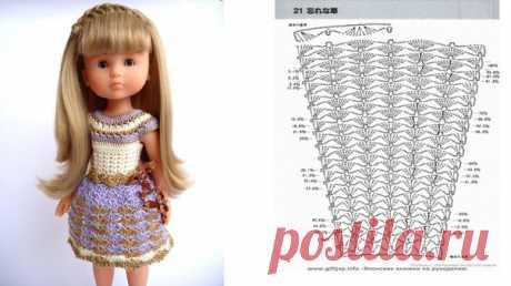 """Вот такие платьица получились у Viktoria Love!  Верх связан по описанию платья """"Капучино"""", бесплатное описание + видеомк можно получить здесь https://paola-reina.kasatkadolls.ru/ !!!  Не забывайте про хэштег #вяжем_PaolaReina32см@kasatkadolls там собрано много интересного!!!"""