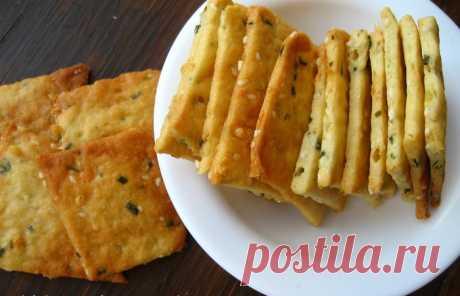 Пикантные соленые крекеры