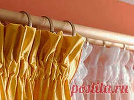 We sew curtains. We sew a curtain tape. Way 2. - YouTube