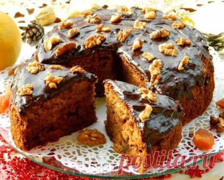 Эксклюзивный Чайный пирог с грецкими орехами и сухофруктами   просто здорово!  
