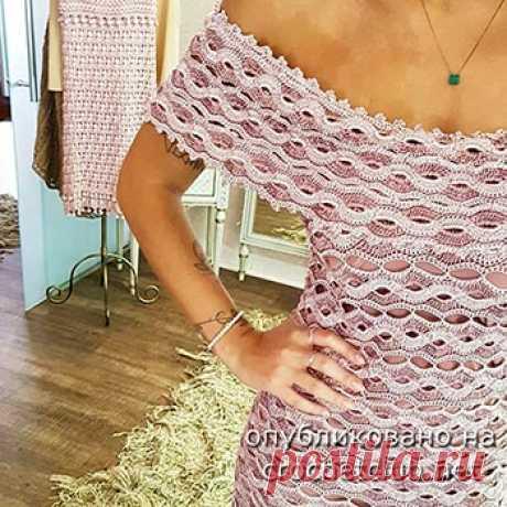 Платье крючком Wave - Вязание Крючком. Блог Настика