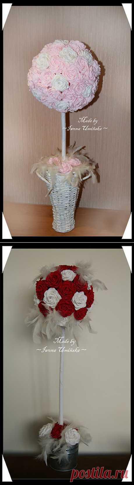 Как сделать розу из гофрированной бумаги.