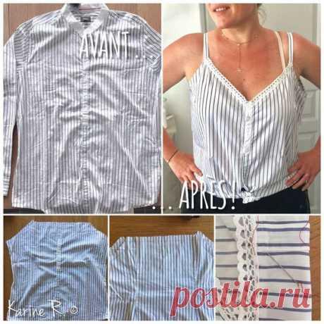 Летние идеи переделки рубашки