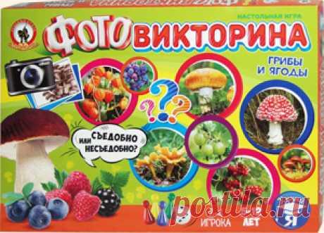 Ботаническая ФОТОвикторина «Грибы и ягоды». Настольная игра Олеси Емельяновой. Эта познавательная игра-викторина познакомит детей и их родителей с грибами и ягодами, которые встречаются в лесах, садах и парках средней полосы России. Игроки не только запомнят их внешний вид и названия, но и узнают, какие из них являются съедобными, а какие ядовиты и опасны для здоровья.
