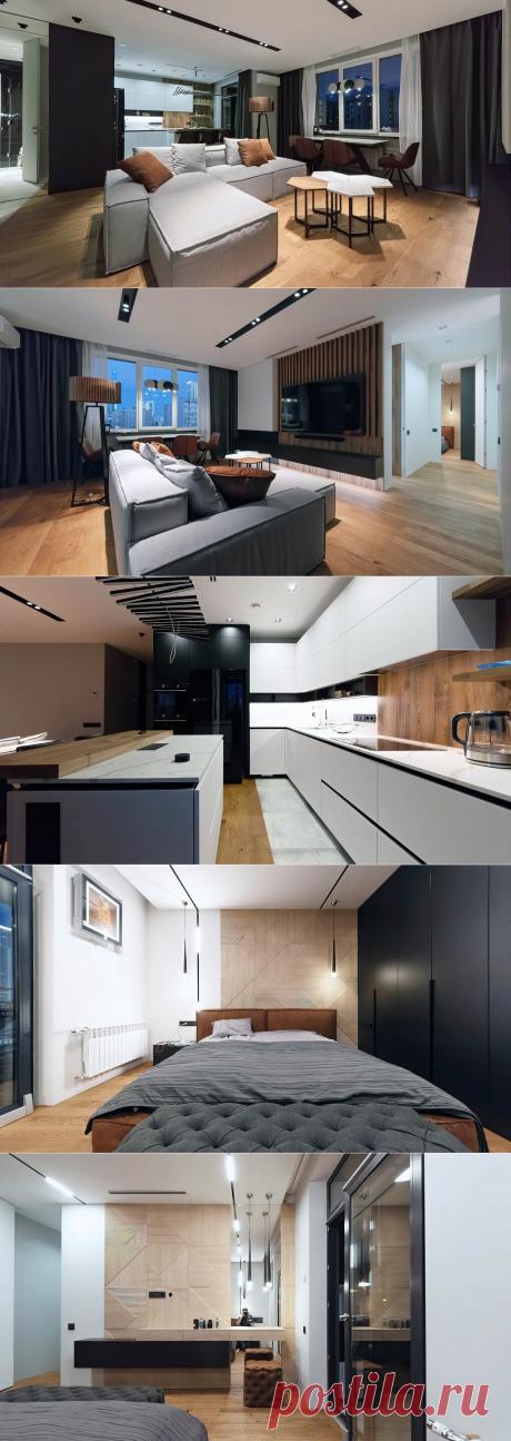 Интерьер квартиры в стиле лофт с паркетными полами Boen