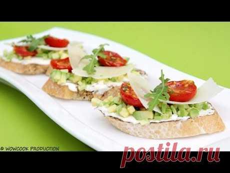 Готовит Уриэль Штерн Классика: Брускетты с вялеными томатами
