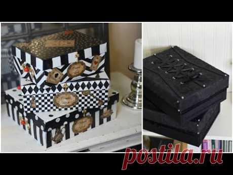Красота из мусорного ведра! Идеи декора обувных коробок - YouTube