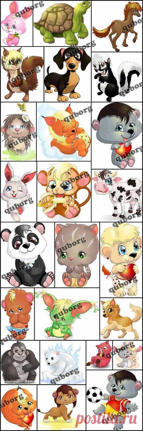 Stock Vector - Cartoon Animal 2 » RandL.ru - Все о графике, photoshop и дизайне. Скачать бесплатно photoshop, фото, картинки, обои, рисунки, иконки, клипарты, шаблоны.
