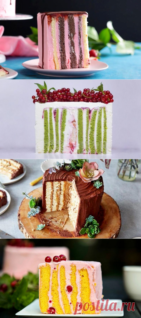 Вертикальный торт рулет из коржей - рецепт пошагово с фото