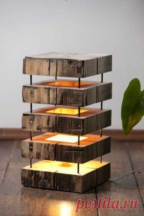 Невероятные светильники из дерева, которые помогут украсить и разнообразить жилище / Я - суперпупер