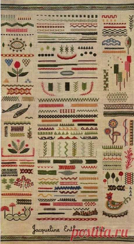 Всё о вышивке: виды вышивки, виды швов, стежки, материалы, инструменты- Part 3- Part 3