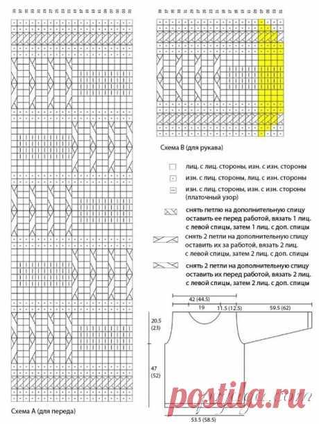 Красный свитер спицами для мужчин