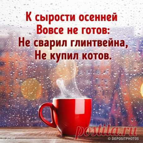 Осень  кто  как  может Встретит  на  Покров...) Может  чаем  с  сушкой... Но  не  без  котов...!!!