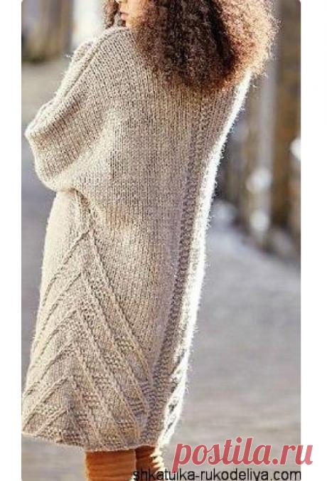 Пальто WILSHAW в стиле oversize из толстой пряжи. Спицами. Все размеры. / Шкатулка рукоделия. Сайт для рукодельниц.