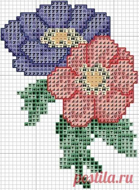 Вышивка цветов: схемы — Сделай сам, идеи для творчества - DIY Ideas