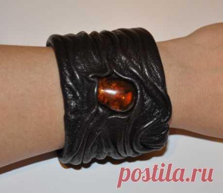 Кожаный браслет своими: как сделать украшение из куска кожи и консервной банки