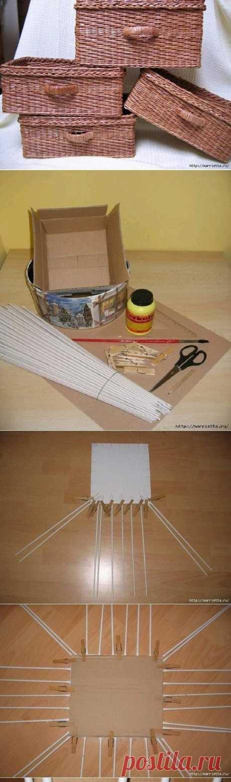 Плетение из газет для начинающих | LS