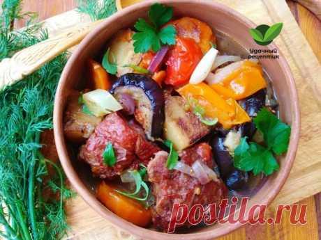 Овощное рагу с копчёными рёбрышками – Удачный рецептик