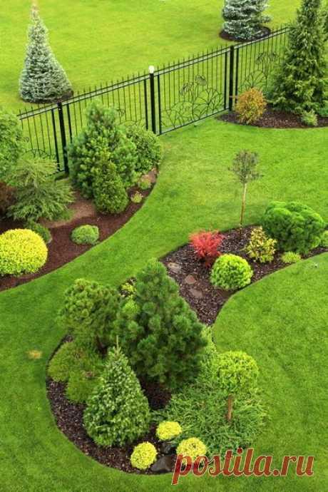 ~ Ландшафтный дизайн: 45 идей клумб и цветников с фото
