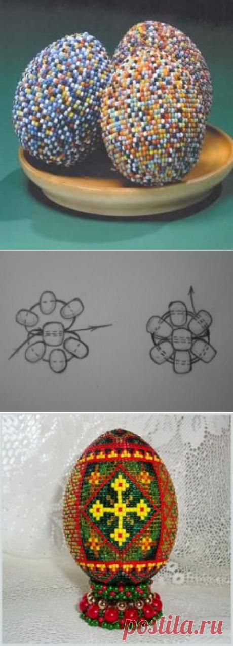 Пасхальные яйца из бисера: техника оплетения своими руками (схема)