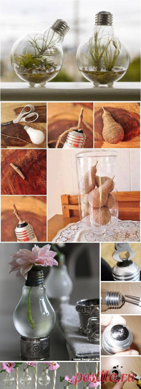 DIY Project: Recycled Light Bulbs | Home Design, Garden & Architecture Blog Magazine