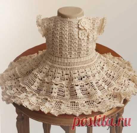 Платье крючком от Illianna » Ниткой - вязаные вещи для вашего дома, вязание крючком, вязание спицами, схемы вязания