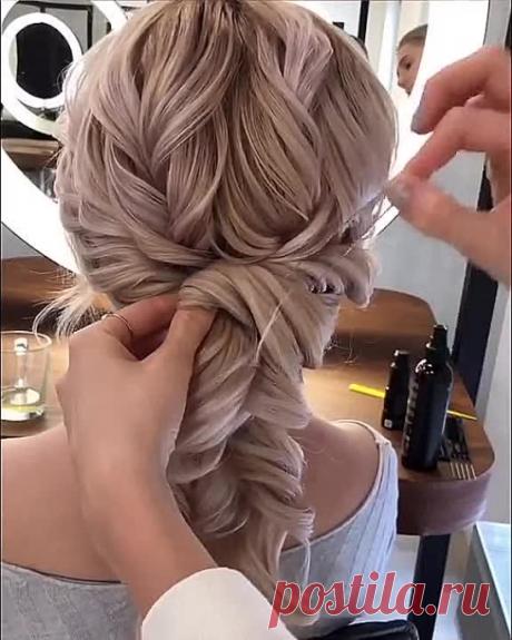 Пример работы с тонкими негустыми волосами